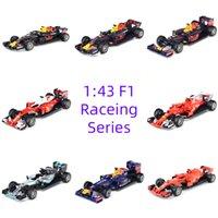 سباق الفورمولا سيارة 1:43 دييكاست معدن نموذج ثابت سيارة محاكاة لعب اطفال هدية