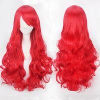 Größe: justierbar synthetische Perücken Farbe auswählen und Stil 80CM Art und Weise Frauen Anime lange lockige wellenförmige synthetische Haar-Partei Cosplay volle Perücke