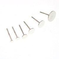 925 Sterling Blank örhänge Studstift för smycken Resultat Komponentinställningsbas 2 3 4 5 6 8 mm PAD EARRING PINS