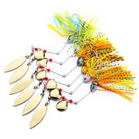 Новый Высококачественный Металлический Spinner Buzzbaits Крючок 15 г 6 цветов Рыбалка Spinnerbaits перетащить поппер Приманка Джигс железная приманка