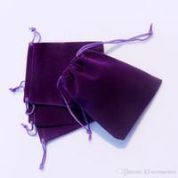 АМЕТИСТ 3 Размеров бархата ювелирной мешок подарок пакет Презент, пригодная для браслета ожерелья рождественских сумок