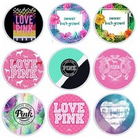 Pink Letter Towel Microfiber Round Beach Towels Thick Tapest...