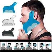 Nuevo diseño innovador de la barba de la barba de la barba para cortar la guía de la plantilla de la herramienta de afeitar para la moda de los hombres