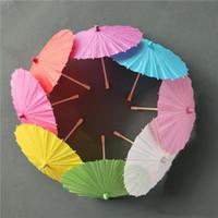 sombrillas novia de la boda de papel colorido Diámetro 60cm paraguas Mini paraguas artesanales Diámetro 20/30/40 / 60cm Paraguas de la boda para al por mayor