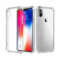 Custodia rigida in TPU trasparente per iPhone 5 Plus Custodia rigida per iPhone 7 Plus XR XS MAX Samsung Note 9 S8 S9 S10