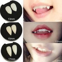 5 Styles Horrific Fun Clown Dress Vampire Dents Halloween Party Dentiers Props Accessoires Zombie Devil Fangs Dent Avec Gomme
