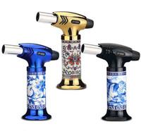 Ceramica Body Jet Torch Lighter Lighter Chef Blowtorch Flame BBQ accendini 1300 ° Saldatura Brata Butane Accensione Cucina Attrezzo