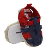 Roman Style Baby Shoes, Jeans, Soft- soled Sandals Toddler Fi...