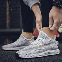 Kanye West Static Desinger Shoes 4D Knitting Runner Sports para hombre, todos en negro gris, zapatillas de malla transpirables, tamaño 10