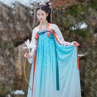 Ancient Tang Dynasty Female Dance Traditional Clothing Princ...