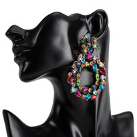 crystal drop earrings for women 2019 big colorful statement ...