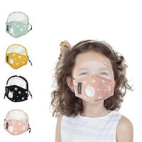 4styles 2 in 1 kids star print mask full face mouth cover with breath valve хлопок открытый pm2. 5 защитные детские маски FFA4192