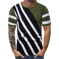 Color Line Pallened Hommes Chemises Designer ras du cou à manches courtes T-shirts Vintage Tops hommes Casual Designer Casual pur