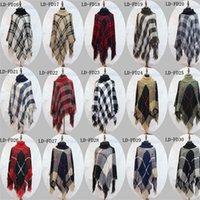Square Soft свитер Lattice пальто Сыпучего Большого размер Высокого воротник петля пряжа плащ шарф Сиамской Одежда мультистиле 25ymH1
