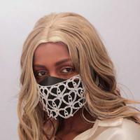 Kadınlar Hollow Elastik Yüz Vücut Takı Gece Kulübü Dekoratif Mücevherat 5.0 için Bling Rhinestone Yüz Maskesi Jewlery