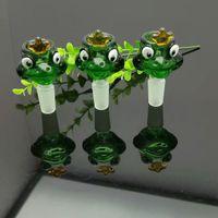 Cabeça de bolha de sapo verde atacado vidro tubulações de água acessórios de tabaco de vidro apanhador de cinzas
