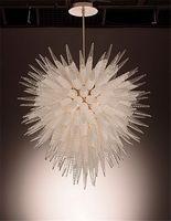 2020 más nuevo estilo de Chihuly de cristal soplado luz pendiente decoración del hotel UL del CE Certifiacate LED de la lámpara de cristal de Murano