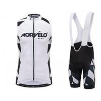 2019 Morvelo Team Cycling Stickey Stickey Jersey Gilet Bib Shorts Set Men Estate All'aperto Quick Dry Mountain Mountain Bike di alta qualità Set K061303