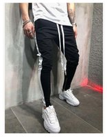 Pants for Men Casual Fashion Fit Striped Drawstring Elastic ...