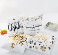 45x45cm Frohe Weihnachten Abdeckung Flannelette gebräunte Pillowcase Startseite Sofa Platz Kissenbezug Dekorative Kissen-Abdeckungen GGA2833