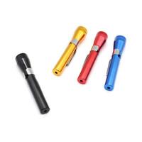 미니 손전등 모양의 흡연 담배 파이프 금속 분리 펜 커버 디자인 담배 허브 파이프 E1 5kr 액세서리 석유 굴착 연기