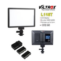 Viltrox L116T Portable LED Video Light Ultra-thin LCD Bi-Color Dimmable DSLR Studio mini Lamp Panel for YouTube show live Camera