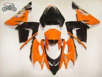 Personalizado seus próprios kits de carenagem de motocicleta para kawasaki 2004 2005 ninja zx-10 laranja preto aftermarket feedings Kit ZX10R 04 05 ZX 10R