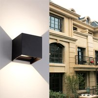 Sell well 8W 12W COB Up And Down Led Wall Sconces Wall Lights IP65 Surface Mounted Outdoor Cube Lamp Waterproof IP65