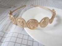 Мода-7 модный бренд hairhands Европейский барокко человеческие волосы головы accessopries металл маттл золото оголовье старинные женские украшения для волос
