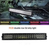 120 watt rgb led streifen lichtleiste zweireihig farbe 5d objektiv handy app control auto offroad für jeep 4x4 offroad honda bmw suzuki
