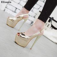 Women Sexy High Heels Pumps Shoes For Woman Buckle Strap Pee...