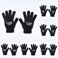 Trump 2020 Перчатки Keep America Great Letter Printed Пять пальцев перчатки спорта на открытом воздухе Зимние теплые варежки 2шт / пара LJJO7505