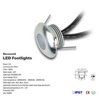 36pcs / lot 1W DC12V 옥외 정원 중단 된 최근에있는 갑판지면 벽 LED 지하 램프 가벼운 조경 보도 가로장