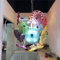 Ağız Üflemeli Renkli Murano Cam Asma Plaka Sanat Tabaklar Avize Camı Kubbe Dekor Işık