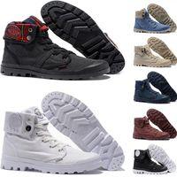 Quente OG PALLADIUM Pallabrouse Botas para homens Mulheres Red Canvas Sneakers Casual do Exército Man céu verde azul instrutor Shoes 36-45