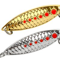 Gorąca Sprzedaż Złoto i Silver Spinner Łyżka Łyżka Fishing Lure z Treble Hook Feather Saltwater Metal Jig Artifical Baits