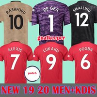 Thaïlande 18 19 20 maillots de football manchester united homme utd 2019 2020 martial RASHFORD kit de football LINGARD maillot MARTIAL maillot FRED goalkeeper Gardien de but