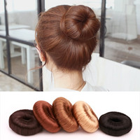 Lady fashion fake hair topknot hair band loop croquette testa fiore bocciolo testa ciambella capelli anello creatore