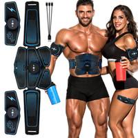 Estimulador muscular ABS Hip instrutor EMS Abdominal Belt Electrostimulator muscular Exercício equipamento Home Electro J1756 estimulação