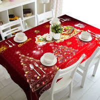 Customizable 3D Tablecloth Christmas Tree New Year Fireworks...