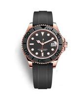 Top-Mode-Männer hohe Qualität 40mm 116655 Keramik-Ring 18 Karat Roségold Gummiarmband automatische mechanische wasserdichte Uhr der Männer