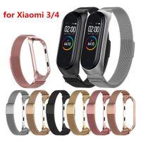 Smart Polsbandjes Milanese Loop MI Band 3/4 Polsriem Miband Smart Bands Armband Smart Horloge Banden Voor Xiaomi Mi Band 3/4 Metalen riem