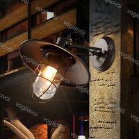 Lámpara de pared Estilo de pájaro Estilo Industrial Loft American Village Rust Black Iron E27 Para Café Indoor Restaurante Balcón DHL