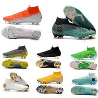 2018 Mercurial Superfly VI 360 Elite FG Knit Mens Soccer Cleats Cr7 chaussures Crampons de football botas de fútbol Eur 35-45