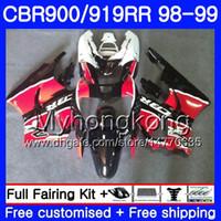 Bodys voor HONDA CBR 919RR CBR 900RR CBR919RR 1998 1999 278HM.39 CBR900RR Stock Zwart RODE CBR 919 RR CBR900 RR CBR919 RR 98 99 FUNING KIT