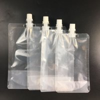 1000pcs Stand- up Plastic Drink Packaging Bag 250- 500ml Spout...