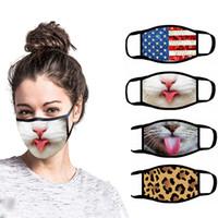 3D 디자이너 얼굴 마스크 재사용 가능한 만화 인쇄 디자이너 방진 마스크 자외선 방지 세탁 가능한 만화 마스크 파티 마스크 12 스타일