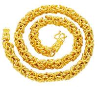 latón plateado collar collar de tela de grifo de la arena dominante joyería de oro de 24 quilates chapado en oro de los hombres