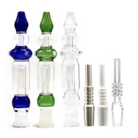 Blue Clear Green Glass Pipes With 10mm 14mm Titanium Nail Qu...