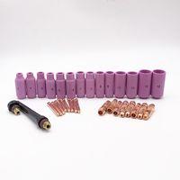 32pcs WIG-Schweißbrenner Zubehör WP 17 18 26 Master-Kit Verbrauchsmaterial Keramikdüse Collet Körper Collet Und Backcap